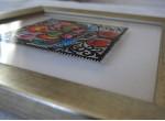 Découpure de Łowicz: carré de coqs (sur une vitre)artout)