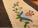 Fartuch i rękawice – jasnoniebieski kwiat
