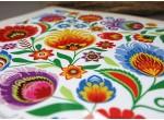 Podstawka pod garnek ceramiczna (kwiaty łowickie)