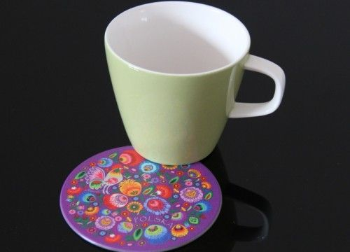 A mat under a mug