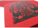 "Carte postale des Kurpies - ""leluja"" (deux pigeons)"