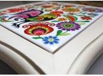 Podstawka pod garnek ceramiczna (paw w kwiatach)