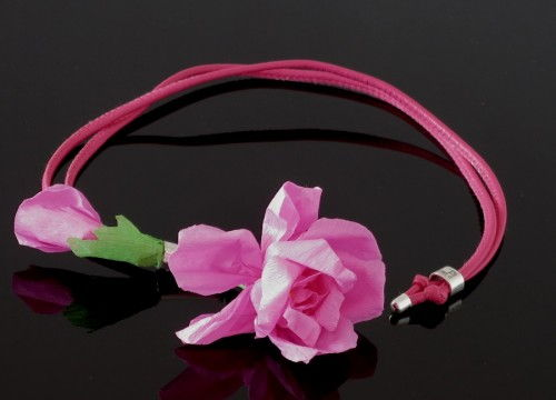 Rose necklace  (long) - colorful collection
