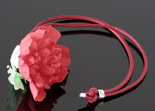 Peony necklace  (long) - colorful collection