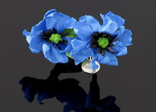 Cornflower brooch - colorful collection