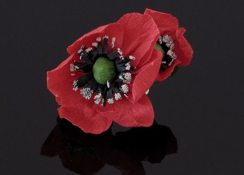 Poppy  brooch - colorful collection
