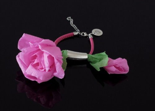 Bracelet with roses - colorful collection