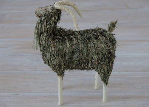A hay goat