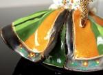 Laleczka dzwonek (pomarańczowo-zielona)