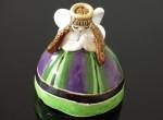 Aniołek - dzwonek (fioletowo - zielony)