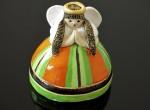 Aniołek - dzwonek (pomarańczowo - zielony)