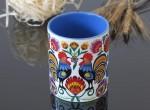 A mug 2 cocks (with a blue inside)