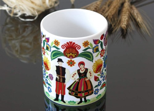 A mug - a Lowicz couple