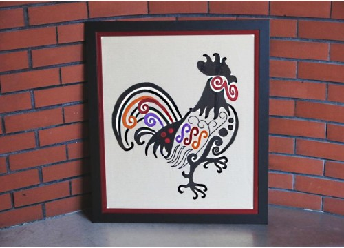 Picture from the fabrics - Rooster