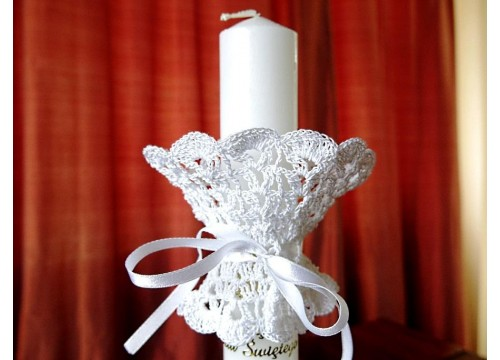 Cover for a baptism candle (flowers)