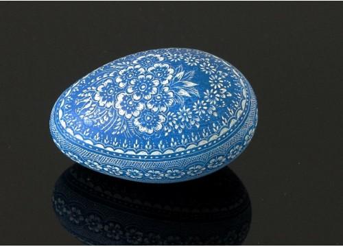 Niebieska kroszonka (na wydmuszce jaja gęsiego)