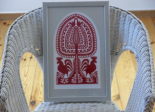 Orange 'Leluja' in a silver frame