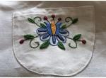 Fartuch i rękawice - niebieski tulipan z płatkami