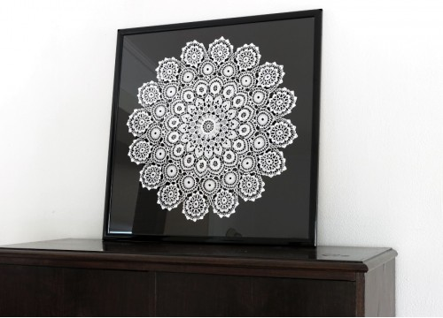 Lace from Koniakow in a frame