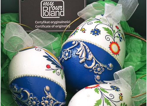 A set of Kashubian Easter eggs