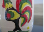 Mug de Lowicz with a rooster and flowers