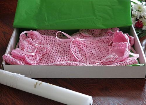 Baptismal set pink