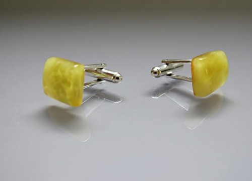 Cufflinks - Baltic amber