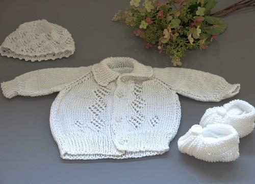 Komplet dla chłopca - sweterek i czapeczka