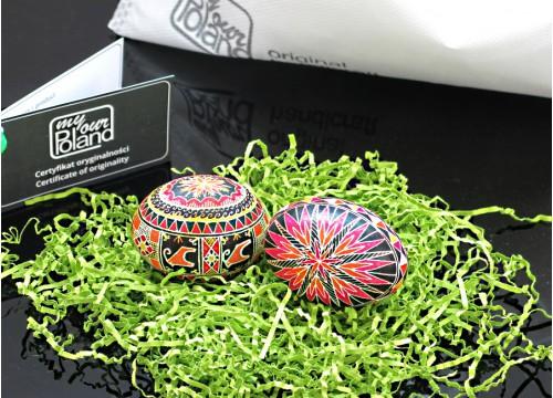 Set of Easter eggs (on hen egg shells)
