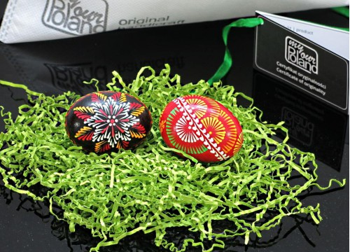 Set of Easter eggs (written with a pin )