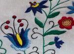 Komplet z niebieskim kwiatem (duży)