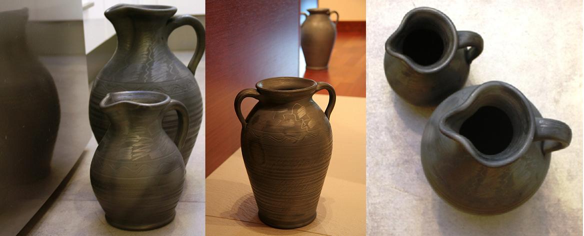 Polish grey ceramics in interior design - handicraft