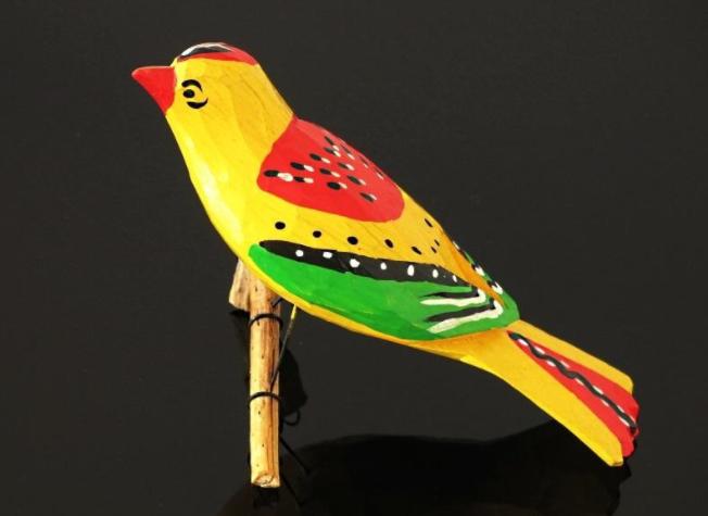 zabawkarstwo - ptaszki z drewna