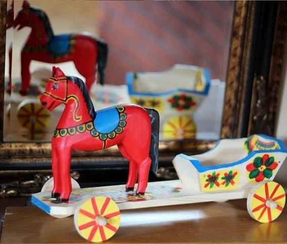 zabawka ludowa - koniki